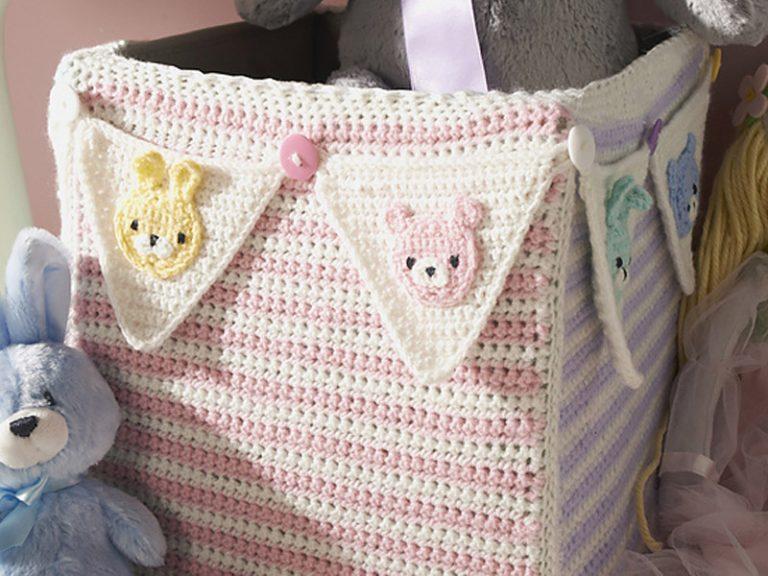 Cube Cozy Basket Crochet Free Pattern