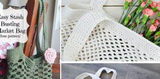Crochet Easy Stashbusting Market Bag Free Pattern