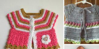 Baby Cardigan Crochet Free Pattern
