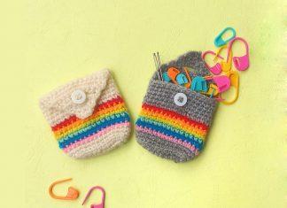 Pixie pocket pouch Crochet Free Pattern