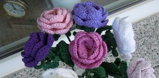 Flower Rose Bouquet Crochet Free Pattern