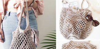 Rustic Market Bag Crochet Free Pattern
