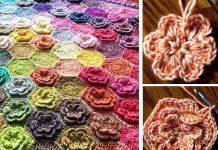 Happy Little Tree Blanket Crochet Free Pattern