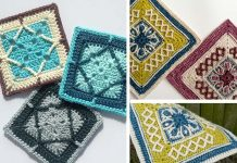Winter Cottage Square Crochet Free Pattern