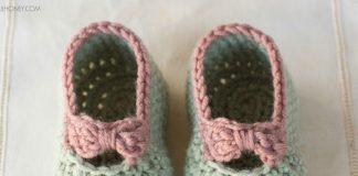 Little Lady Baby Booties Crochet Free Pattern