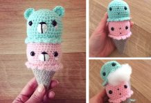 Bears Ice Cream Crochet Free Pattern