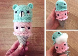 Bears Ice Cream Crochet Free Pattern