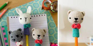 Crochet Animal Ami-pencil Free Pattern