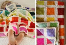 Bear's Rainbow Blanket Crochet Free Pattern