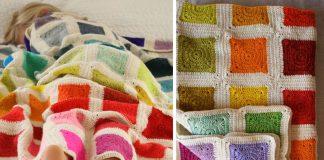 Bear's Rainbow Blanket Crochet Free Pattern