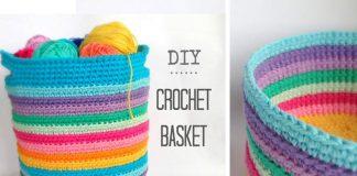 Crochet Basket DIY Free Pattern