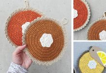 Crochet Pumpkin Pie Pot Holder Free Pattern
