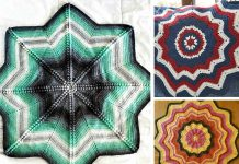 Compass Star Blanket Crochet Free Pattern