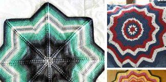 Compass Star Blanket Crochet Free Pattern