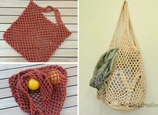 Easy Mesh Grocery Bag Crochet Free Pattern