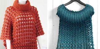 Crochet Elise Poncho Free Pattern