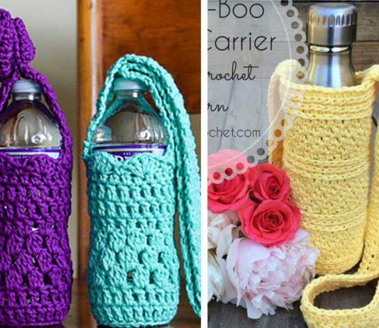 Water Bottle Holders Free Crochet Pattern