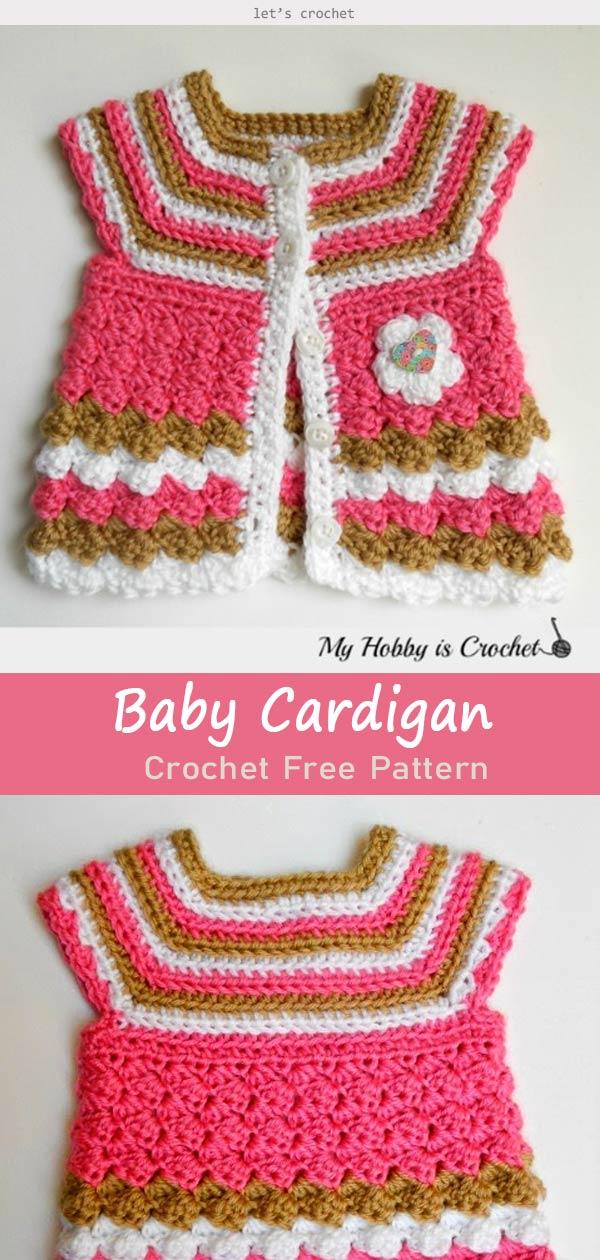 797104040 Baby Cardigan Crochet Free Pattern