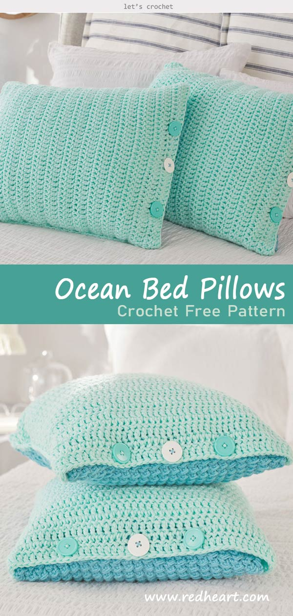 Ocean Front Bed Pillows Crochet Free Pattern