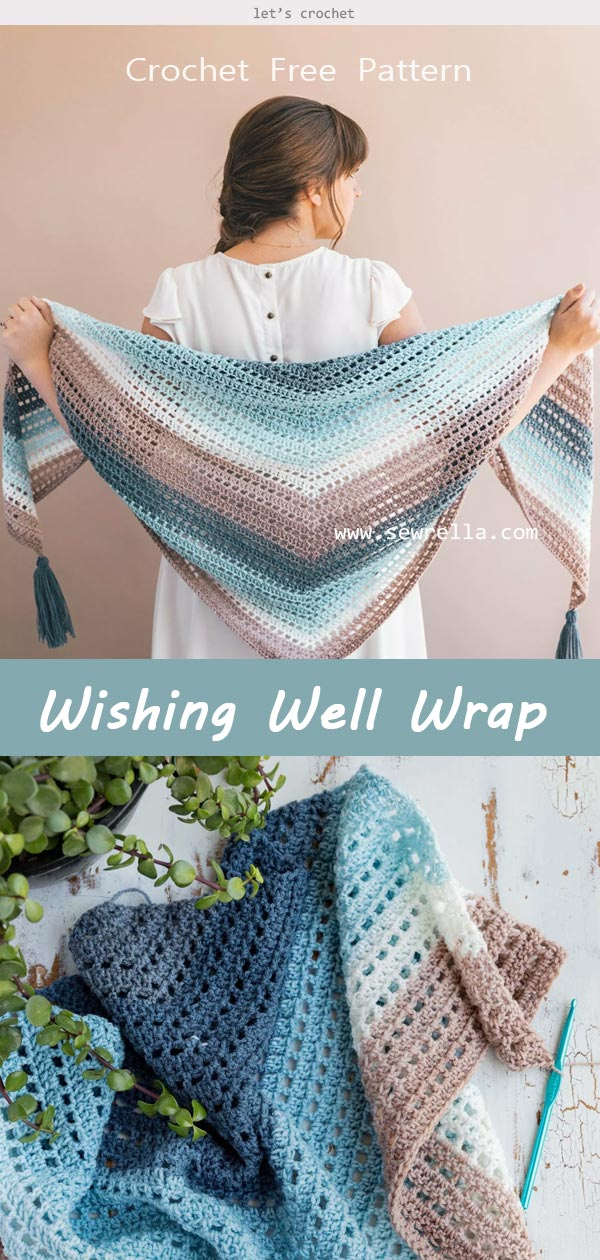 Crochet Wishing Well Wrap Free Pattern