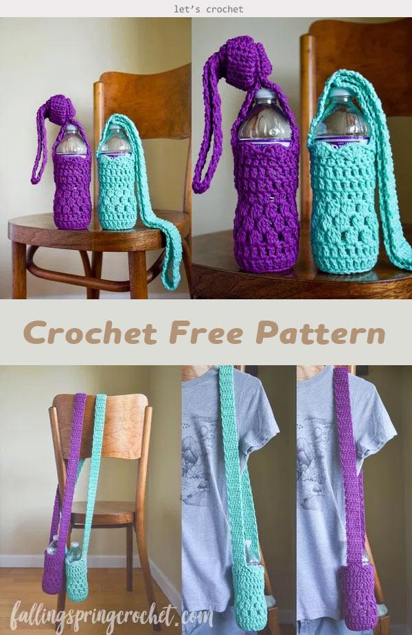 Water Bottle Sling Crochet Free Pattern