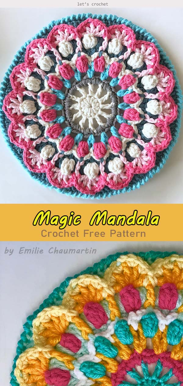 Magic Mandala Crochet Free Pattern