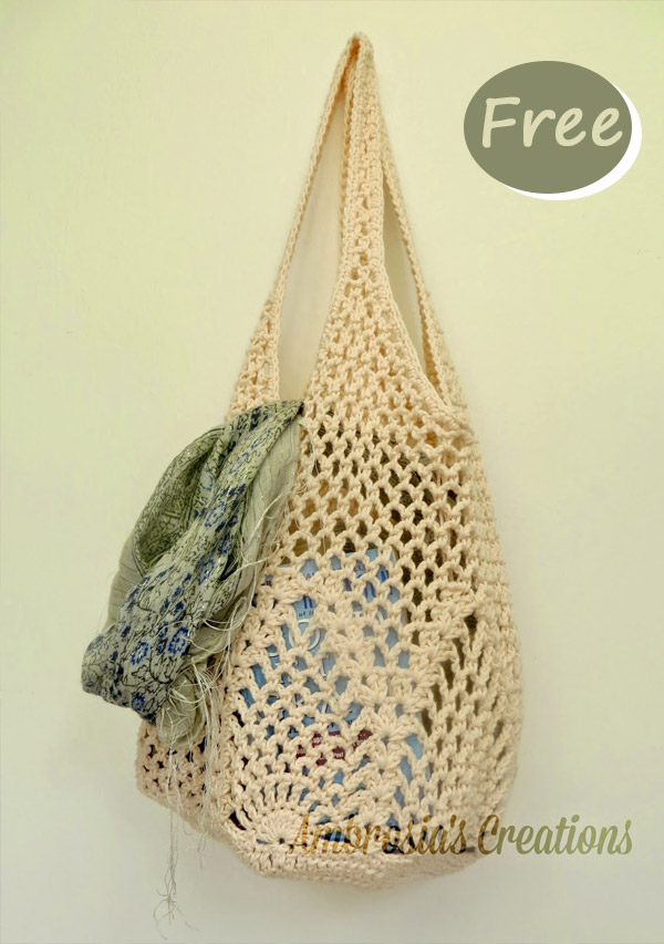 pineapple market bag Crochet Free Pattern