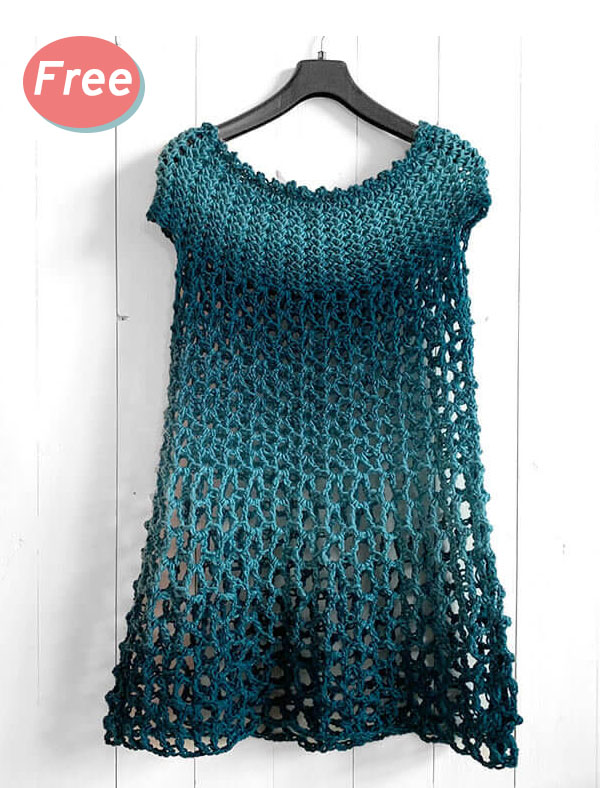 Crochet Poncho Dress Free Pattern