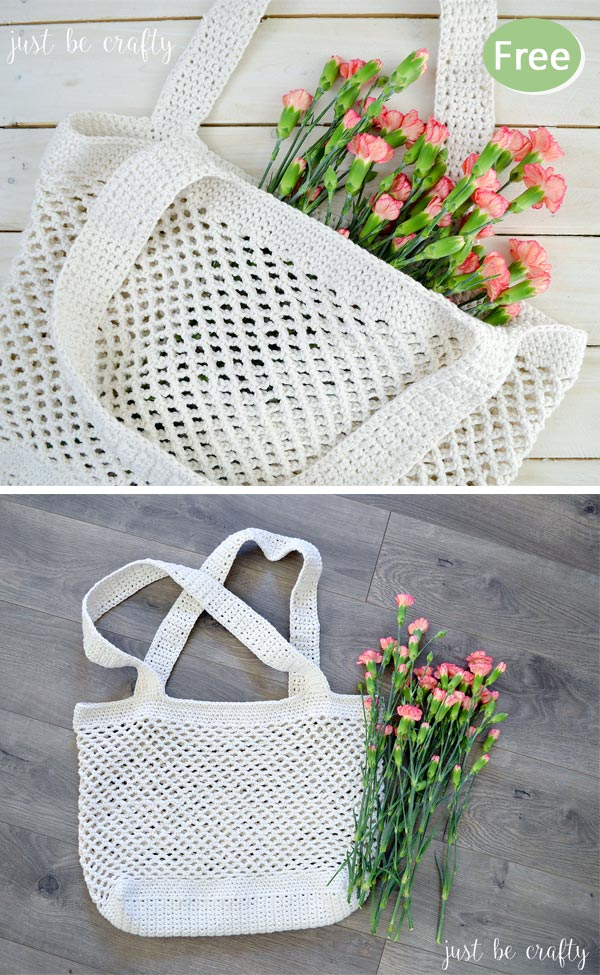 Crochet Farmer's Market Bag Free Pattern
