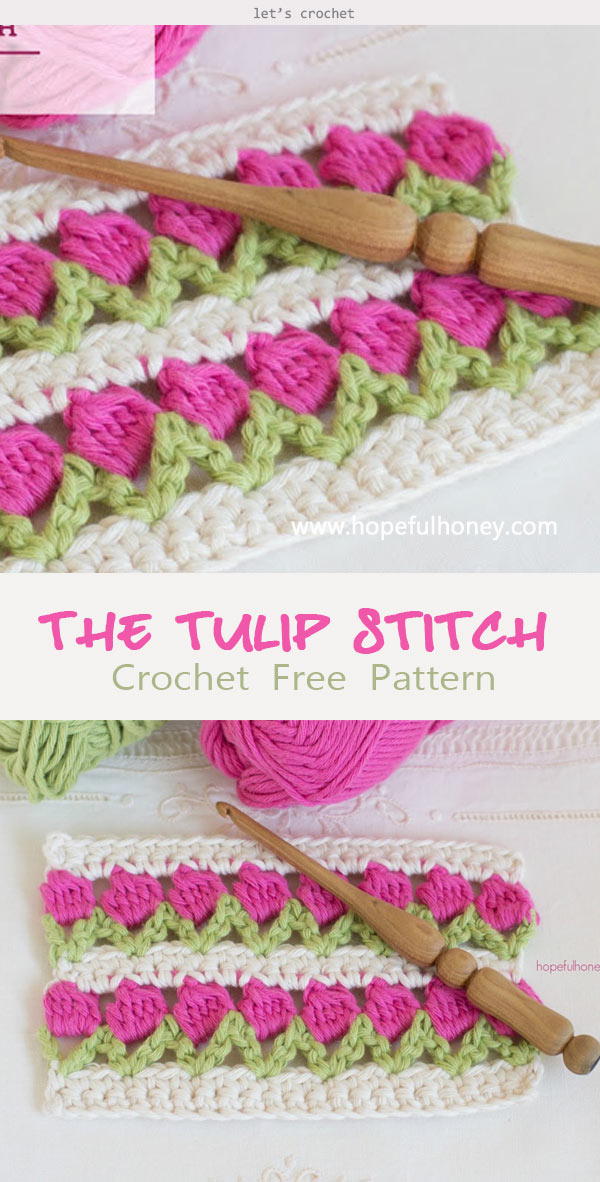 The Tulip Stitch Crochet Free Pattern
