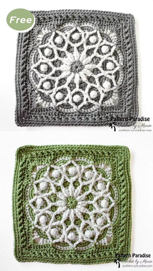 Casablanca Crochet Square Free Pattern