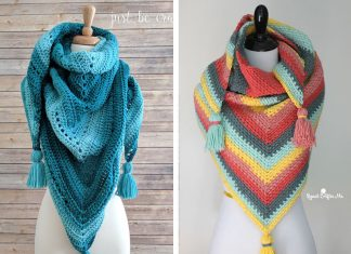 Triangle Shawl Crochet Free Pattern