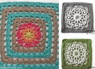 Afghan Square Crochet Free Pattern