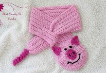 Posh Piggy Button Hole Cowl Crochet Free Pattern
