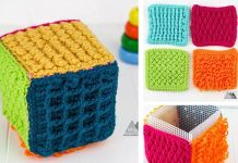 Crochet Sensory Toy Block Free Pattern
