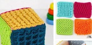 Crochet Sensory Toy Block Free Pattern