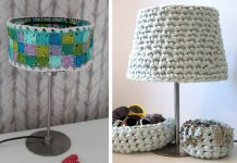 Granny Collage Lampshade Free Crochet Pattern