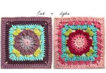 Flower Squares Crochet Free Pattern