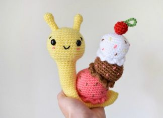 Amigurumi Ice Cream Snail Crochet Free Pattern