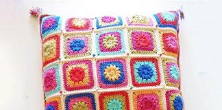 Bohemian Garden Cushion Crochet Free Pattern