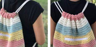 Cinch Sack Bag Crochet Free Pattern