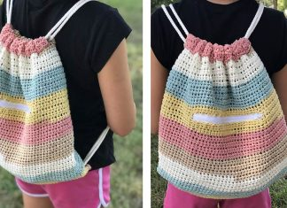 Cinch Sack Bag Crochet Free Pattern