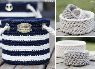 Nautical Basket Crochet Free Pattern