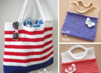 Crochet Patriotic Tote Bag Free Pattern