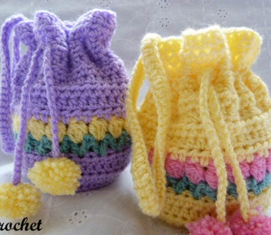 Tulip Wrist Purse Crochet Free Pattern