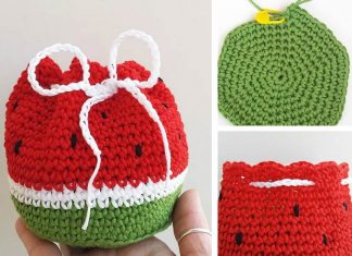 Watermelon Purse Crochet Free Pattern