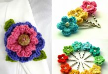 Layered Ruffle Flower Free Crochet Pattern