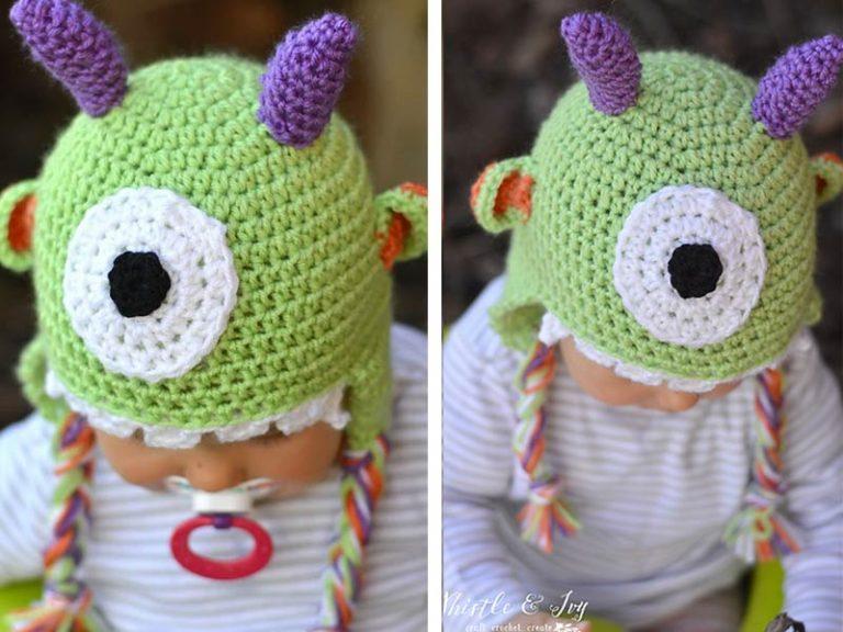 Littlest Monster Baby Hat Crochet Free Pattern