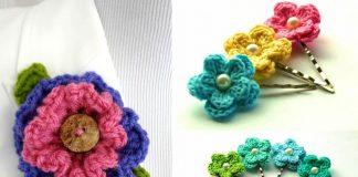 Layered Ruffle Flower Free Crochet Pattern
