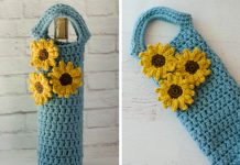 Sunflower Wine Cozy Free Crochet Pattern